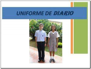 Colegio de la Presentación uniforme de diario